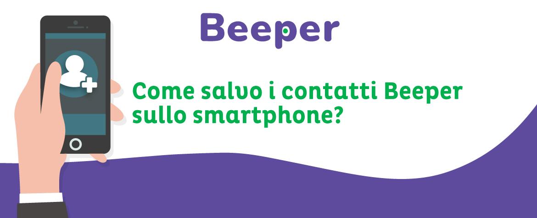 Beeper: salva contatti come vCard con un solo tocco!